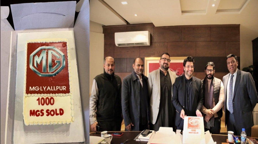 MG Celebrates: 1000 MGS Sold in Faisalabad