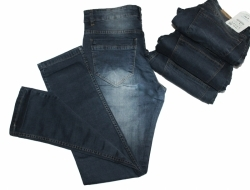 Grey Denim Stretchable Jeans For Men's