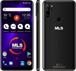 MLS POP 4G Black 4+64GB Memory triple rear camera mobile phone Dual SIM
